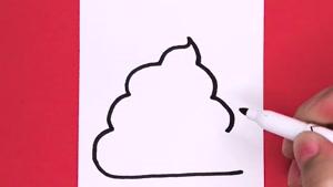 آموزش نقاشی فانتزی و بامزه ایموجی POOP