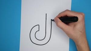آموزش نقاشی فانتزی و بامزه لوگوی تیک تاک