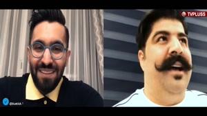 شوخی پشت صحنه ای احمدمهرانفر با صاحب معروف ترین سبیل ایران