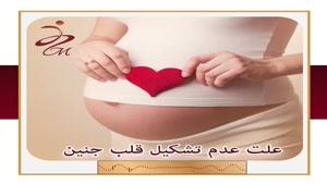 علت عدم تشکیل قلب جنین