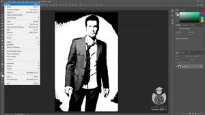 طراحی لوگو با عکس خودتان در فتوشاپ