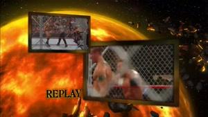 مبارزه جذاب تریپل اچ و رندی اورتون در قفس 2008