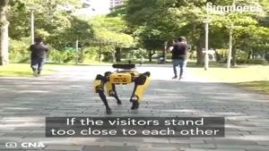 ربات هشدار دهنده فاصله ی اجتماعی