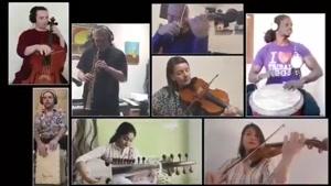 همنوازی نوازندگان خارجی در پاسداشت سعدی باصدای علیرضا قربانی