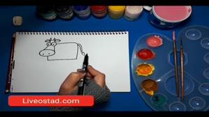 آموزش نقاشی برای کودکان _ گاو