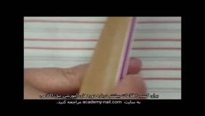 آموزش کاشت ناخن با ژل بیلدر : مرحله دوم : تیپ گذاری
