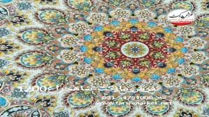 فرش مارکت -فرش کاشان - فرش 1200 شانه شاهچراغ آبي