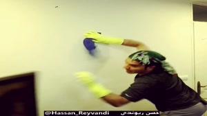 کلیپ خنده دار فاجعه خانه تکانی حسن ریوندی