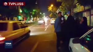 استرس مردم در خیابان بعد از زلزله