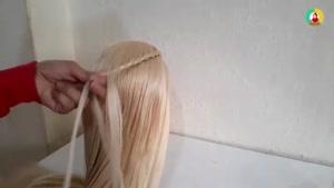 آموزش بافت آبشاری مو