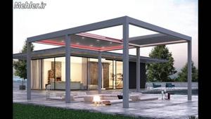 09300093931 طراحی و تولید سقف متحرک پارچه ای با پروفیل آلومی