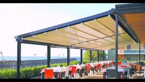 پوشش برقی رستوران | سایبان برقی رستوران | سایبان 09300093931