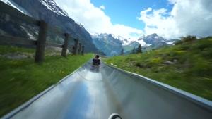 سرسره ای هیجان انگیز در دل کوه کوستر سوئیس