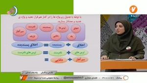 آموزش فارسی و نگارش پنجم ابتدایی