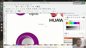 آموزش طراحی لوگو شرکت هوآوی و شرکت رایتل بصورت وکتور