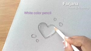 نقاشی سه بعدی با مداد - قطره های اب