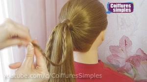 آموزش گام به گام یک مدل بافت مو دم اسبی جدید و متفاوت