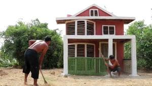 ساخت یه خونه ویلایی جنگلی باحال (پارت 2)