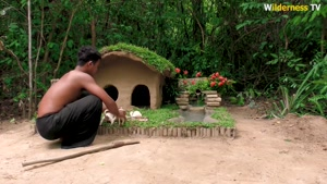 ایده جالب برای ساختن خانه سگ و حوضچه برای ماهی در جنگل