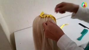 آموزش بافت مو با روبان