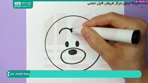 طریقه کشیدن نقاشی شیر میکی موس