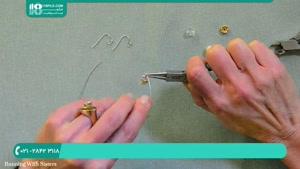 ساخت گوشواره حلقه ای کریستالی