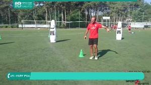 آموزش حرکات تکنیکی فوتبال به کودکان دبستانی