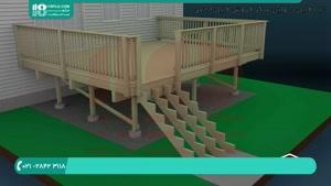 نحوه ی ساخت نرده چوبی برای پاگرد پله