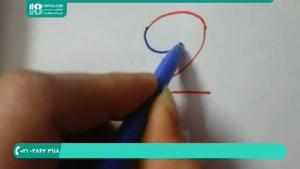طریقه نقاشی کردن با عدد 2