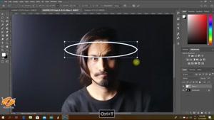 آموزش فتوشاپ 2020 - ساخت حلقه نوری در فتوشاپ