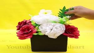ایده های خلاقانه تزیینی با گل و گلدان