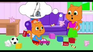 کارتون خانواده گربه با داستان کودک نافرمان
