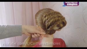 آموزش گام به گام یک مدل شینیون مو فرانسوی بسیار ساده