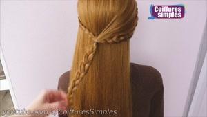 آموزش مدل بافت مو دخترانه ساده برای مهمانی