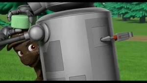 کارتون سگ های نگهبان با داستان نجات ربات گارسون