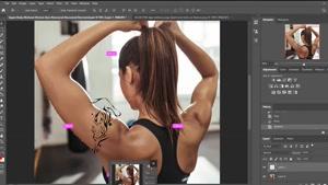 آموزش تاتو - آموزش تتو روی بدن با برنامه ادوبی فتوشاپ