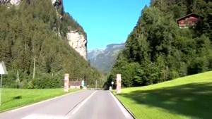 رانندگی در جاده های زیبای سوئیس