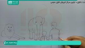 آموزش نقاشی به کودکان ( نقاشی باغ وحش )