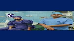 فیلم آرتروسکوپی - جراحی بسته رباط صلیبی زانو