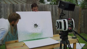 صحنه آهسته یک روش عجیب و جالب برای نقاشی