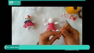 آموزش بافت عروسک کیتی دخترانه با قلاب