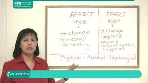 آموزش کلمات گیج کننده Effect و Affect در زبان انگلیسی