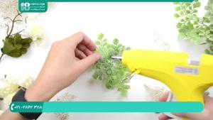 آموزش گل آرایی _ ساخت دستبند با گل