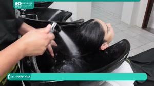 نحوه کراتینه کردن مو با اتو برای موهای بلند