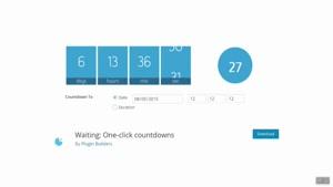 ایجاد تایمر در وردپرس با افزونه Waiting: One-click countdown