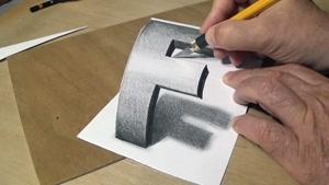 آموزش گام به گام طراحی سه بعدی حرف f