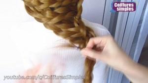 آموزش مدل بافت مو آسان و سریع برای دختران