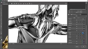آموزش تبدیل عکس به مجسمه طلایی در فتوشاپ