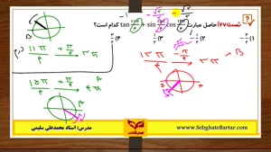 آموزش مثلثات-استاد سلیمی-حسابان قسمت دوم