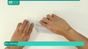 مراحل ساخت اوریگامی به شکل تفنگ